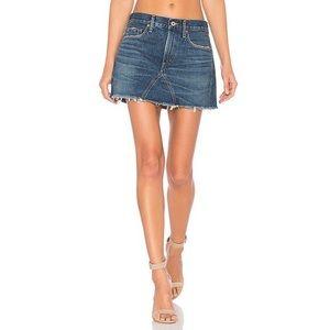 Agolde Jeanette Denim Mini Skirt Size 29 BNWT